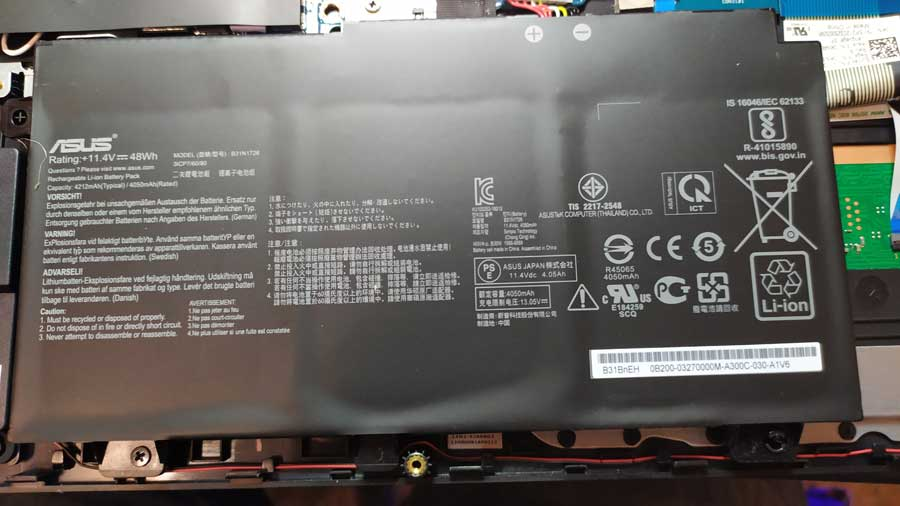Batería ordenador portátil